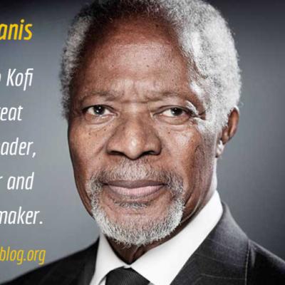 Kofi Annan: a great Afropolitan changemaker, servant leader and tireless peacemaker.